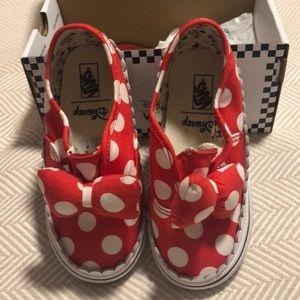Vans Disney Minnie Bow Slip-ons NIB